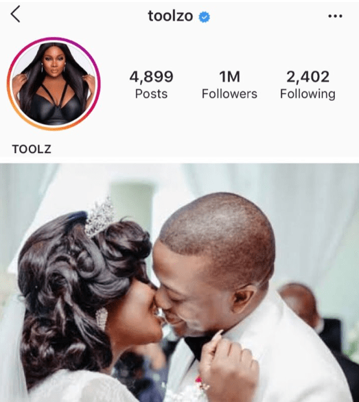 OAP Toolz remove husband's name from her Instagram bio