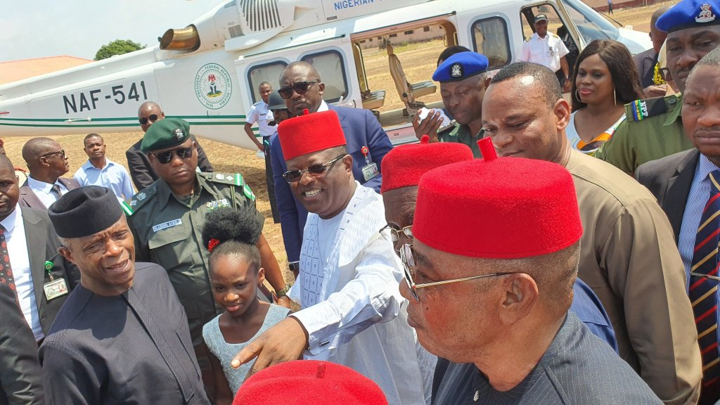 Umahi and Osinbajo on South-East security outfit
