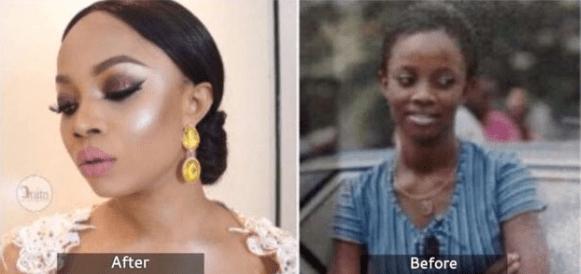 #AbuleEgbaKylieJenner : Nigerians drag Toke Makinwa mercilessly on Twitter