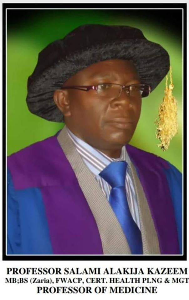 Prof AK Salami Unilorin COVID-19