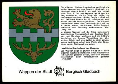 wappen von bergisch gladbach crest of