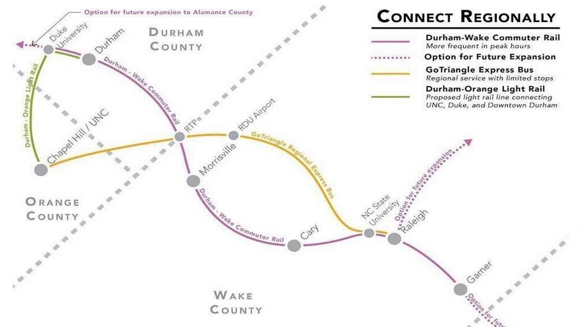 Durham-Orange light-rail costs could delay Durham-Wake