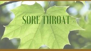 sore throat herbs
