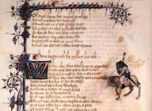 beginning of the Miller's Tale - Ellesmere manuscript