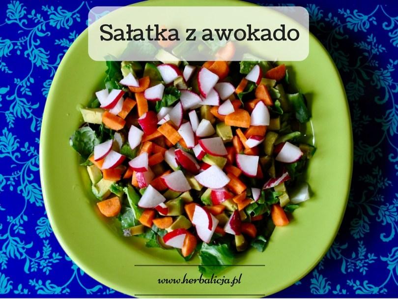 Sałatka śniadaniowa z awokado