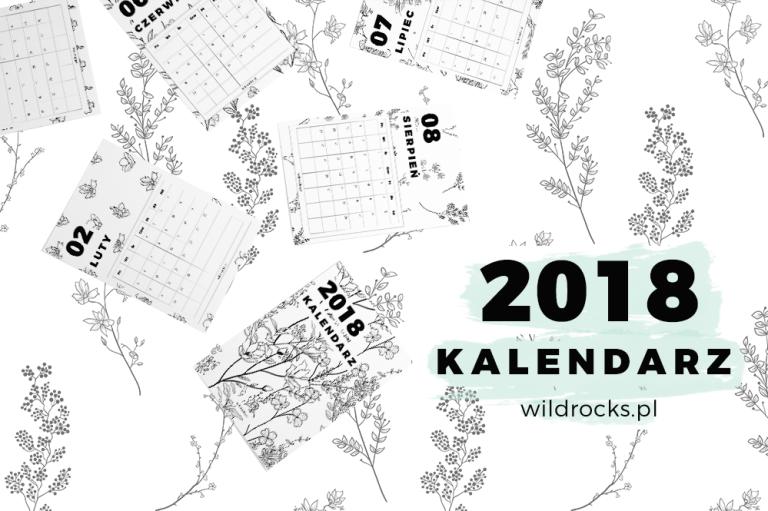 Darmowe plannery miesieczne do druku na 2018 rok