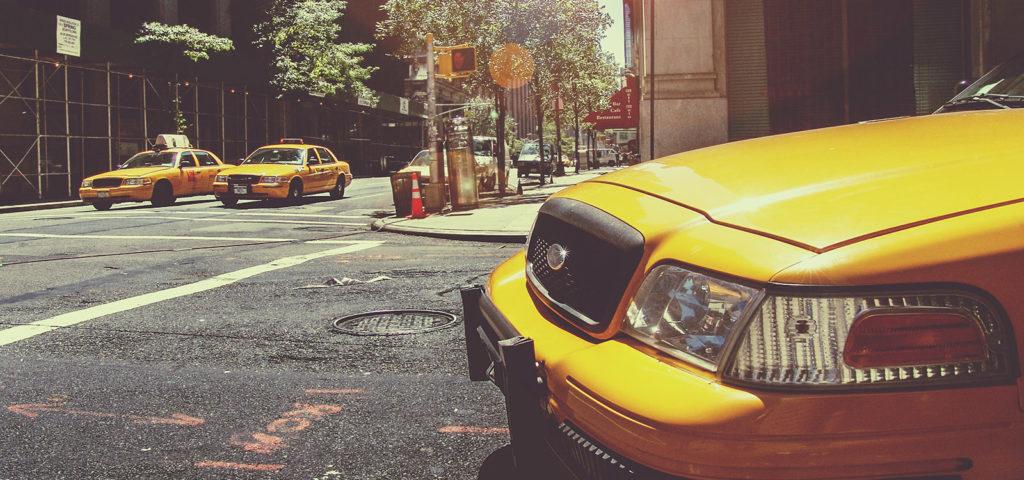 A New York City taxi cab.