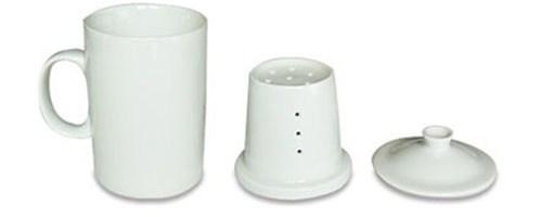 Tasse à tisane avec couvercle et filtre