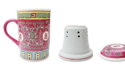 Tasse à tisane en céramique avec couvercle et filtre