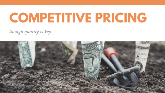 price differences competitive pricing