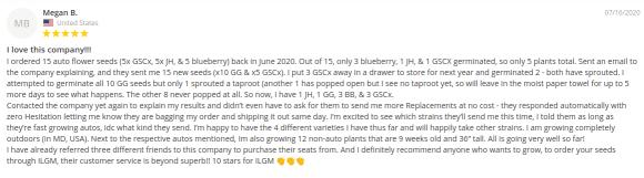 Ilovegrowingmarijuana seeds review