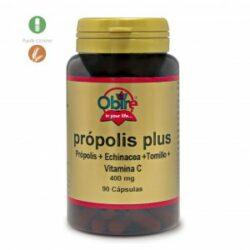Própolis PLUS 400 mg. 90 cápsulas con equinácea, tomillo y vitamina C