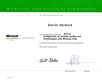 Microsoft Certification M5116