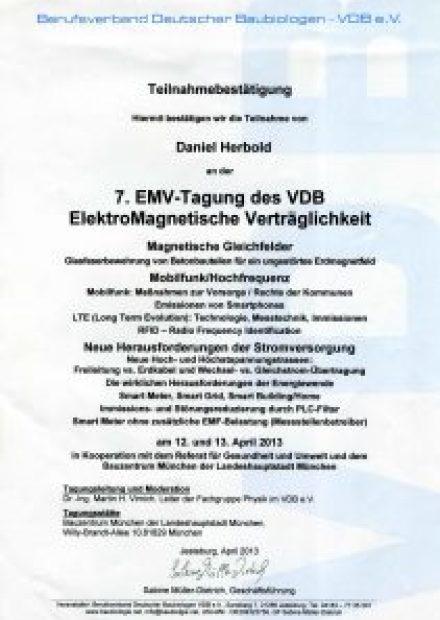 Teilnahme an der 7. EMV-Tagung zur Elektromagnetischen Verträglichkeit