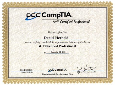 CompTIA A+ Certified Professional