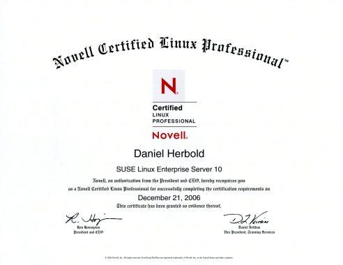 Novell Certified Linux Professional (CLP) SuSE Linux Enterprise Server 10