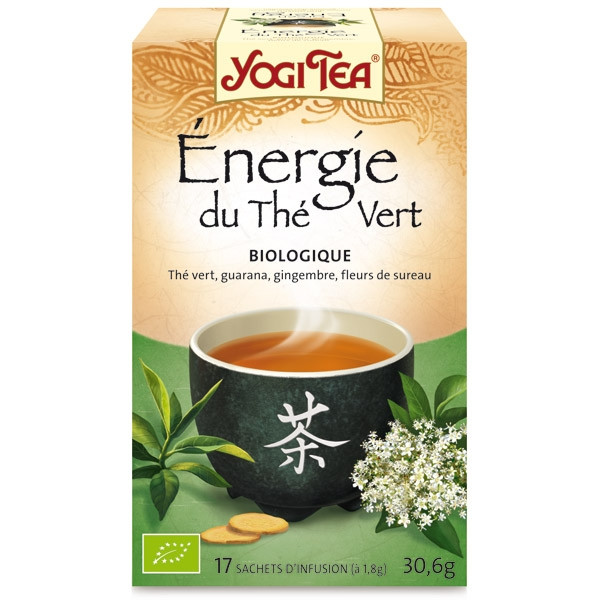 yogi tea energie du the vert bio 17 sachets the ayurvedic