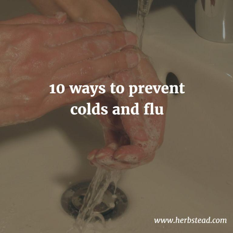 10 ways to prevent colds and flu