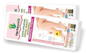 HerbtoniQ Professional Hair Removal Cloth Epilating Non-woven Wax Strips 100 Pieces (White,Size 9×3 Inch) With Heavy Duty Wooden Waxing Knife
