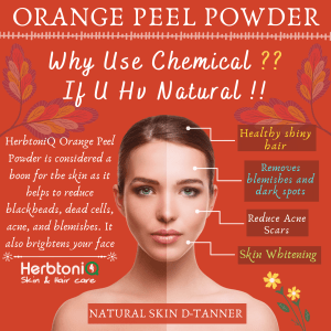 100% Natural Orange Peel Powder (Citrus Reticulate) For Face Pack And Hair Pack