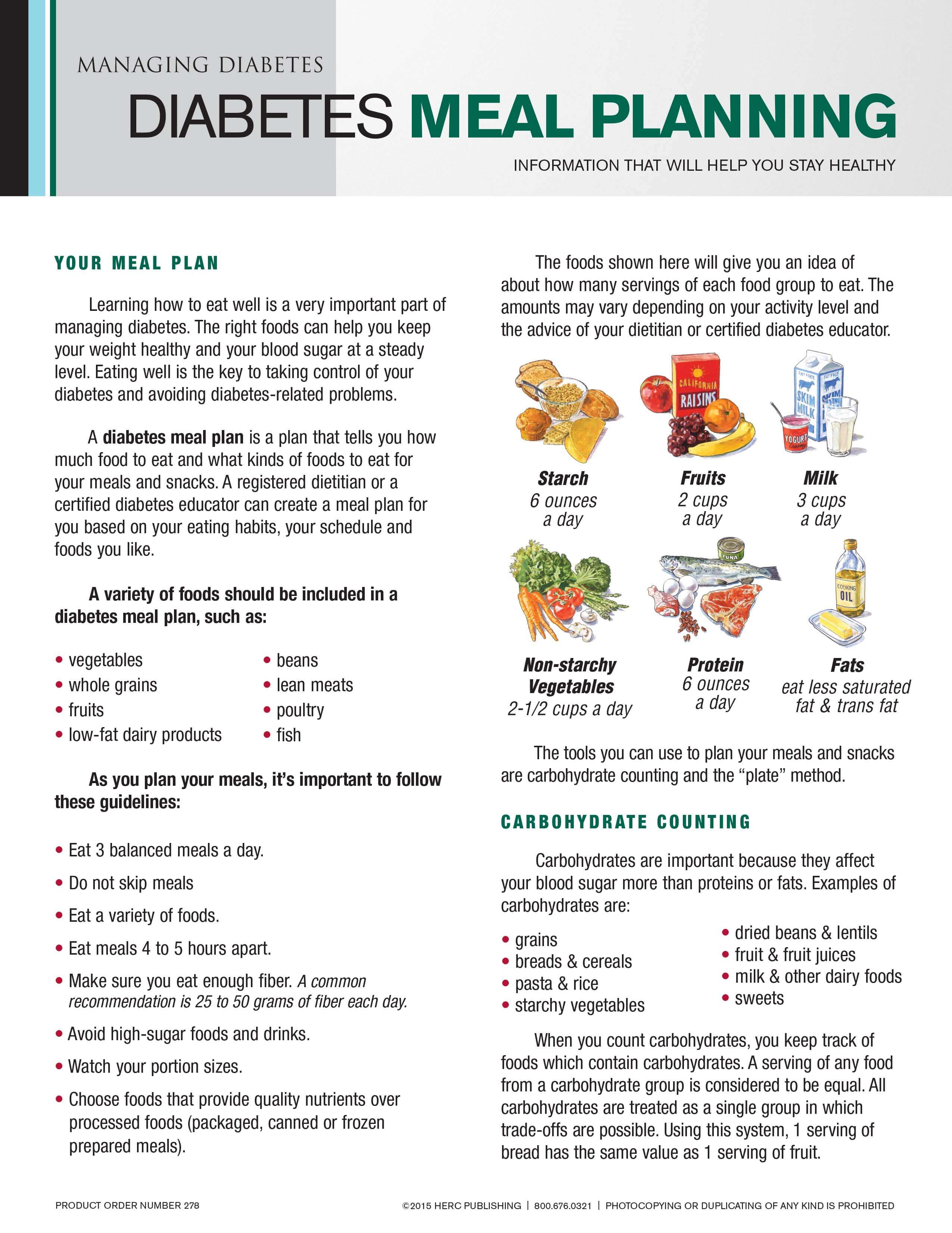 Meal Planning Guidelines For A Diabetic