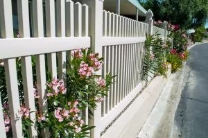 Vinyl is one of the most low-maintenance fencing options, but it still requires some upkeep.