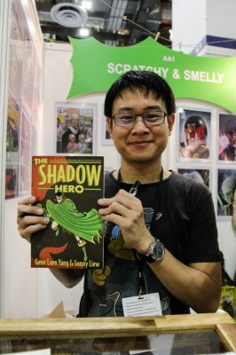 Sonny Liew with Shadow Hero! Photo: Alvin Chong