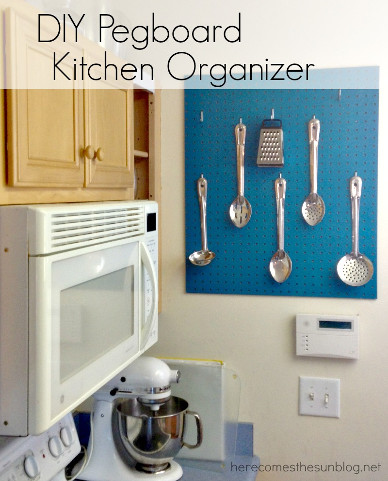 kitchen pegboard table with drawers diy organizer kelly leigh creates