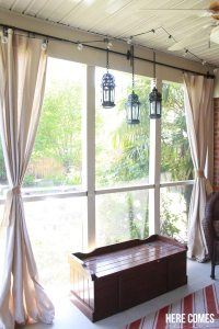 Drop Cloth Porch Curtains   Here Comes The Sun