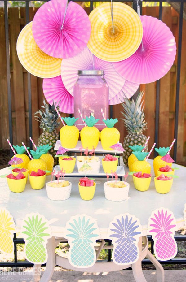 Pineapple And Flamingo Pool Party Here Comes The Sun
