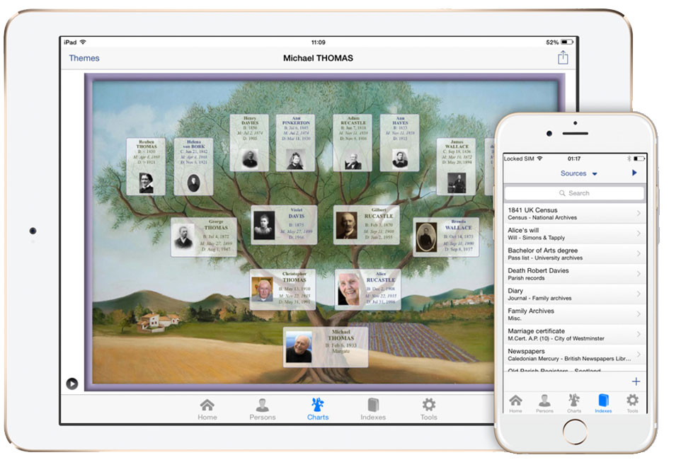Free Family Tree App For Phone And Tablet Genealogy Software Heredis