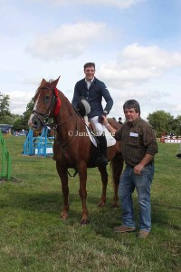 First Equal 90cm Open - Ben Thomas Cook riding Irish Win Raeleen