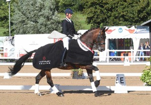 Carl Hester with Nip Tuck. Photo Kevin Sparrow