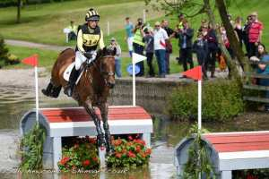 Powys event rider Franky Reid-Warrilow with Dolley Whisper at the NAF International Horse Trials at Hartpury