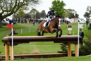 Louise Harwood with Mr Potts at Mitsubishi Motors Badminton Horse Trials 2017