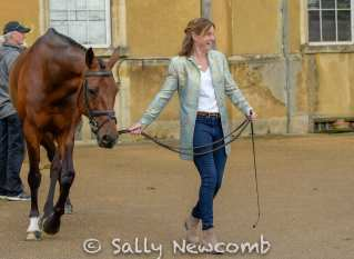 Piggy French before the trot up