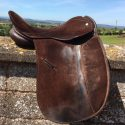 """Heritage Suede Show Saddle. 17"""" Wide"""