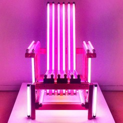 Ivan Navarro's Pink Electric Chair, at the San Antonio Museum of Art. Seemed oddly appropriate for Valentines Day...