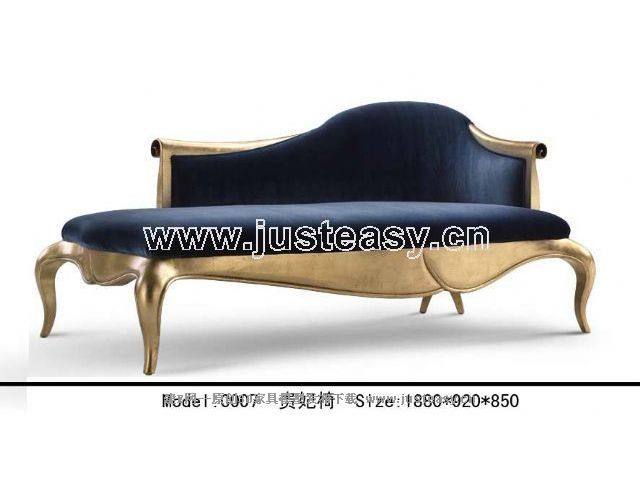 Po Yang chaise longue European neoclassical 3D model