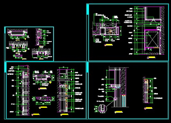 Walls Curtain Boxes And Zhuang Shigui CAD Drawing Large