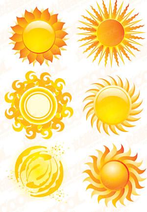Crystal Sonne Stil Symbol Vektormaterial Free Download