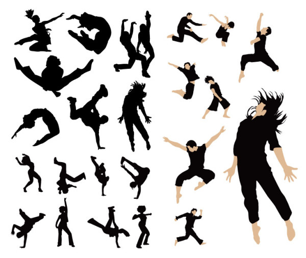 Silueta palabra clave salto salto danza danza danza