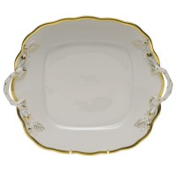 Herend Gwendolyn Square Cake Plate at Herendstore