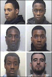 The gang of five blacks and one Albanian Muslim who murdered Mary-Ann Leneghan