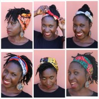 Natural Hair Styles With Scarves