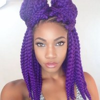 Crochet Braids With Purple Hair | Short Hairstyle 2013