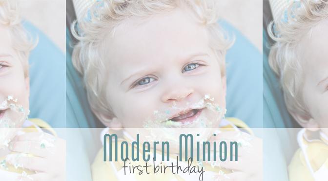 Modern Minion First Birthday
