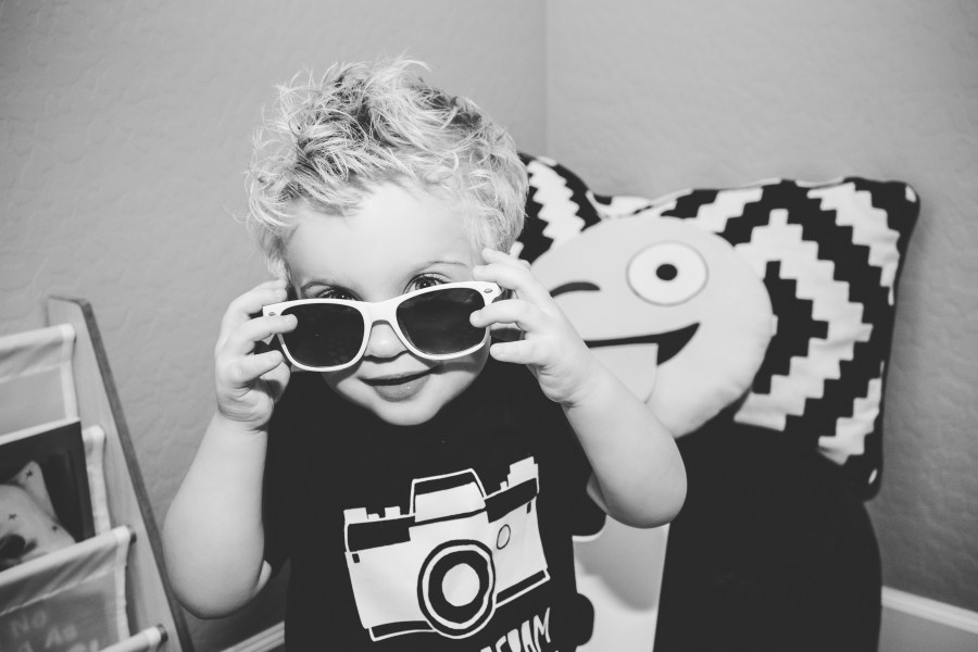 Instagram-Inspired Monochrome Toddler Room via www.TheSentimentalMama.com