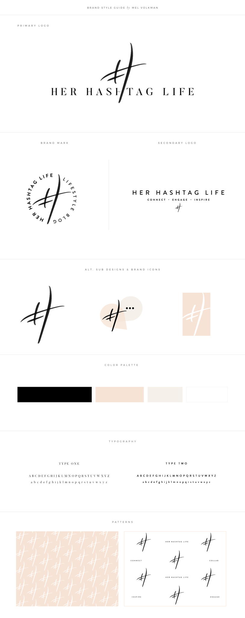 Brand Style Guide by Mel Volkman for Her Hashtag Life