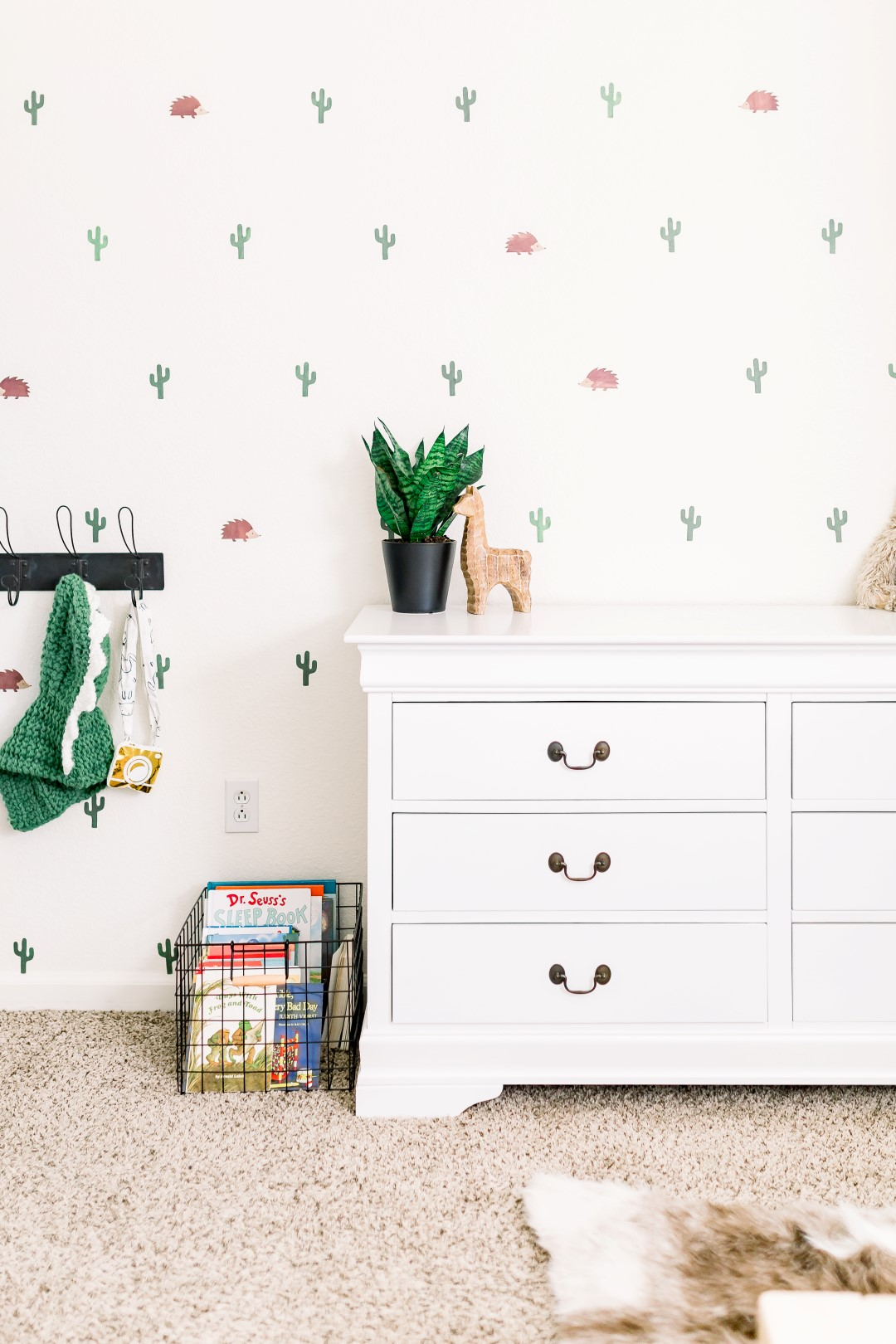 Cactus Hedgehog Boys Room - Her Hashtag Life